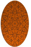 rug #921197 | oval red-orange damask rug