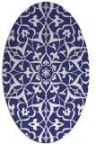 rug #921213 | oval white traditional rug