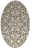 rug #921225   oval beige damask rug