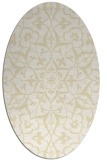 rug #921233 | oval white traditional rug