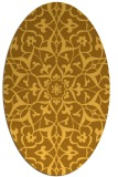 rug #921245 | oval light-orange damask rug