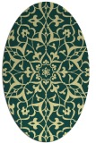 rug #921249 | oval yellow traditional rug