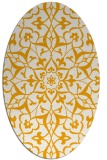 rug #921269 | oval light-orange damask rug