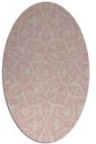 rug #921276 | oval damask rug