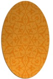 rug #921277 | oval light-orange damask rug