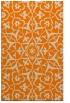 rug #921285 |  orange damask rug