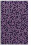 rug #921385    blue-violet damask rug