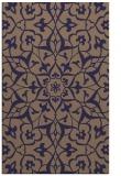 rug #921393 |  blue-violet damask rug