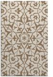 rug #921437 |  mid-brown damask rug