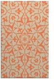rug #921493    orange damask rug