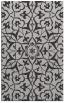 rug #921497 |  red-orange damask rug