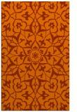 rug #921549    red-orange damask rug