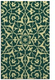 rug #921609 |  yellow damask rug
