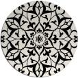 rug #921649   round black damask rug