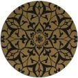 rug #921673 | round brown damask rug