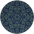 rug #921685 | round blue traditional rug