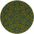 rug #921725 | round blue-green rug