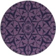 rug #921745   round purple damask rug