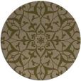 rug #921761 | round mid-brown damask rug