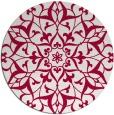 rug #921765   round red damask rug