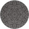 rug #921793 | round brown damask rug