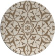 rug #921797 | round mid-brown traditional rug