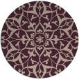 rug #921805 | round pink damask rug