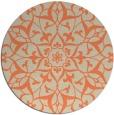 rug #921853 | round beige damask rug