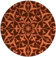 rug #921857 | round red-orange damask rug