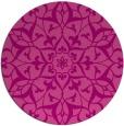 rug #921861 | round pink damask rug