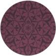 rug #921877   round purple damask rug