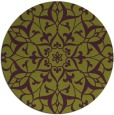 rug #921881 | round purple traditional rug