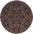 rug #921885 | round purple traditional rug