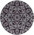 rug #921889 | round purple damask rug