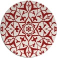 rug #921901 | round red traditional rug