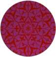 rug #921905 | round red damask rug