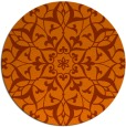 rug #921909   round red-orange traditional rug