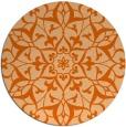 rug #921913   round red-orange rug