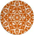 rug #921921 | round red-orange damask rug