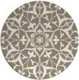 rug #921945 | round beige damask rug