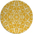 rug #921949 | round yellow traditional rug