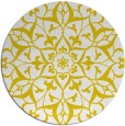 rug #921961 | round yellow traditional rug