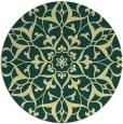 rug #921969 | round yellow damask rug