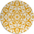 rug #921989 | round light-orange damask rug