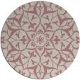 rug #921993 | round pink damask rug