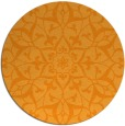 rug #921997 | round light-orange traditional rug