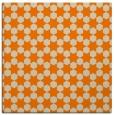 rug #922365 | square orange graphic rug