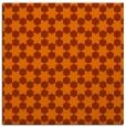 rug #922629 | square red-orange graphic rug