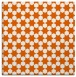 rug #922641 | square red-orange graphic rug