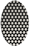 rug #922729 | oval white graphic rug